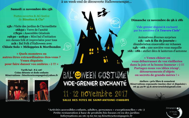 Bal'oween de Binettes & Compagnie et d' «A travers Ciels»    le 11 Novembre : Réservez votre week-end !